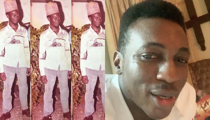 Frank Edwards shares throwback picture of his look-alike father