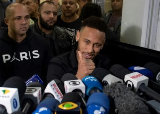 Neymar thanked his fans after he gave a statement at a Rio de Janeiro police station in a case involving a woman who says he raped her
