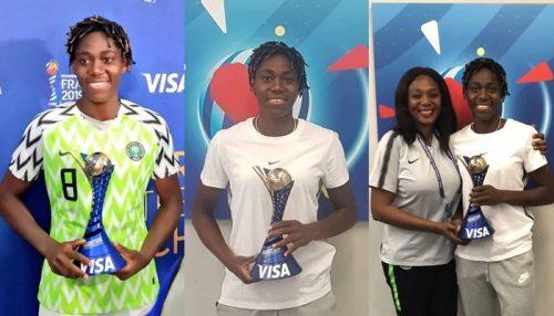 oshoala-wins-woman-of-the-match-award-against-south-korea