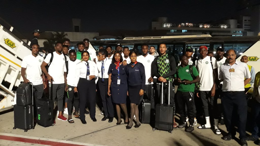 Super Eagles arrived in Egypt ahead of AFCON 2019
