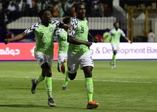 Odion Ighalo starred as Nigeria beat defending African champions Cameroon in a blockbuster last-16 clash