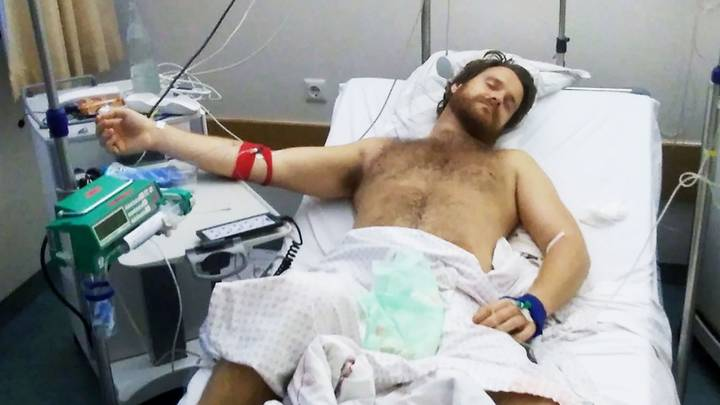 He had a painful two weeks erection after injecting drug into his penis