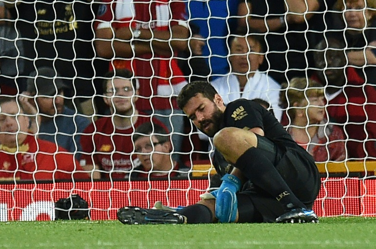 Liverpool goalkeeper Alisson Becker will miss Wednesday's UEFA Super Cup clash against Chelsea with a calf injury
