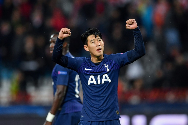 Son Heung-min scored twice in Tottenham's 4-0 win at Red Star Belgrade