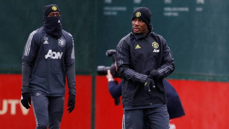 Ighalo training with Manchester united