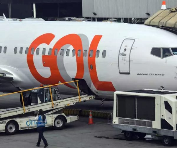 A Boeing 737 MAX aircraft operated by low-cost airline Gol is seen on the tarmac at Guarulhos International Airport, near Sao Paulo on December 9, 2020.